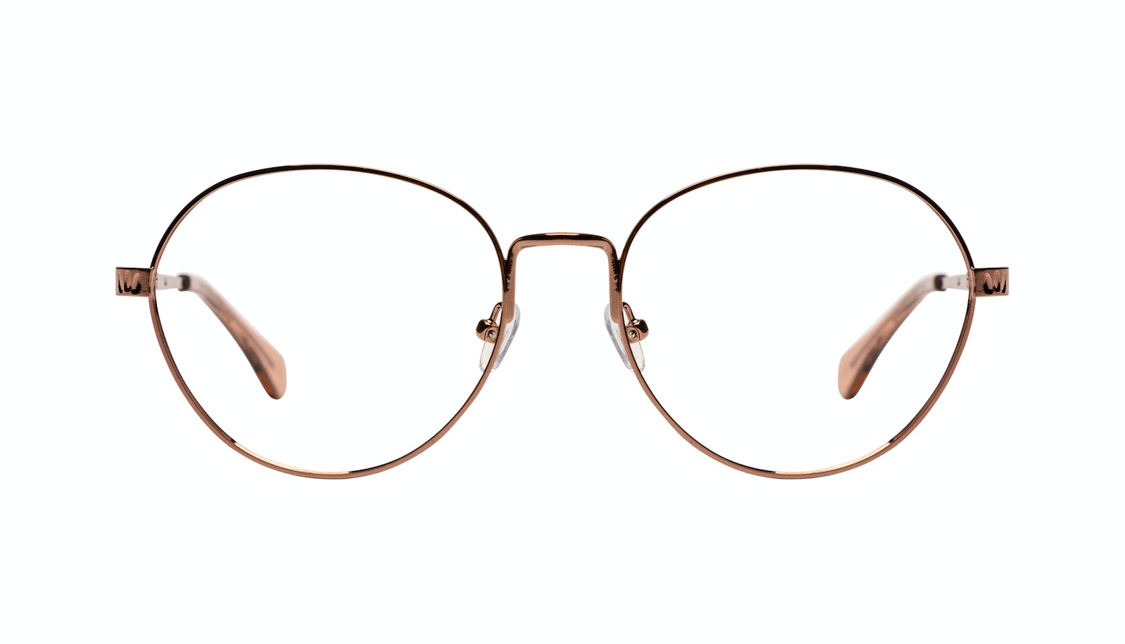 Affordable Fashion Glasses Round Eyeglasses Women Brace L Rose Gold
