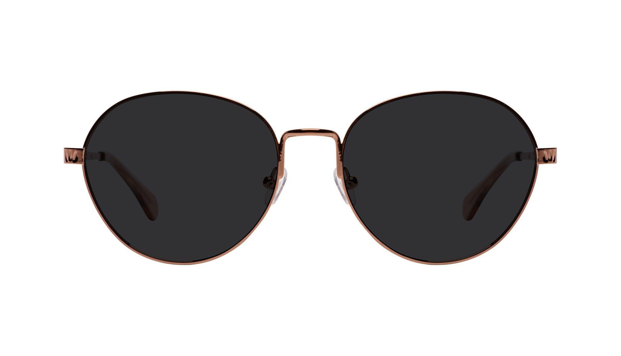 Affordable Fashion Glasses Round Sunglasses Women Brace Plus Rose Gold