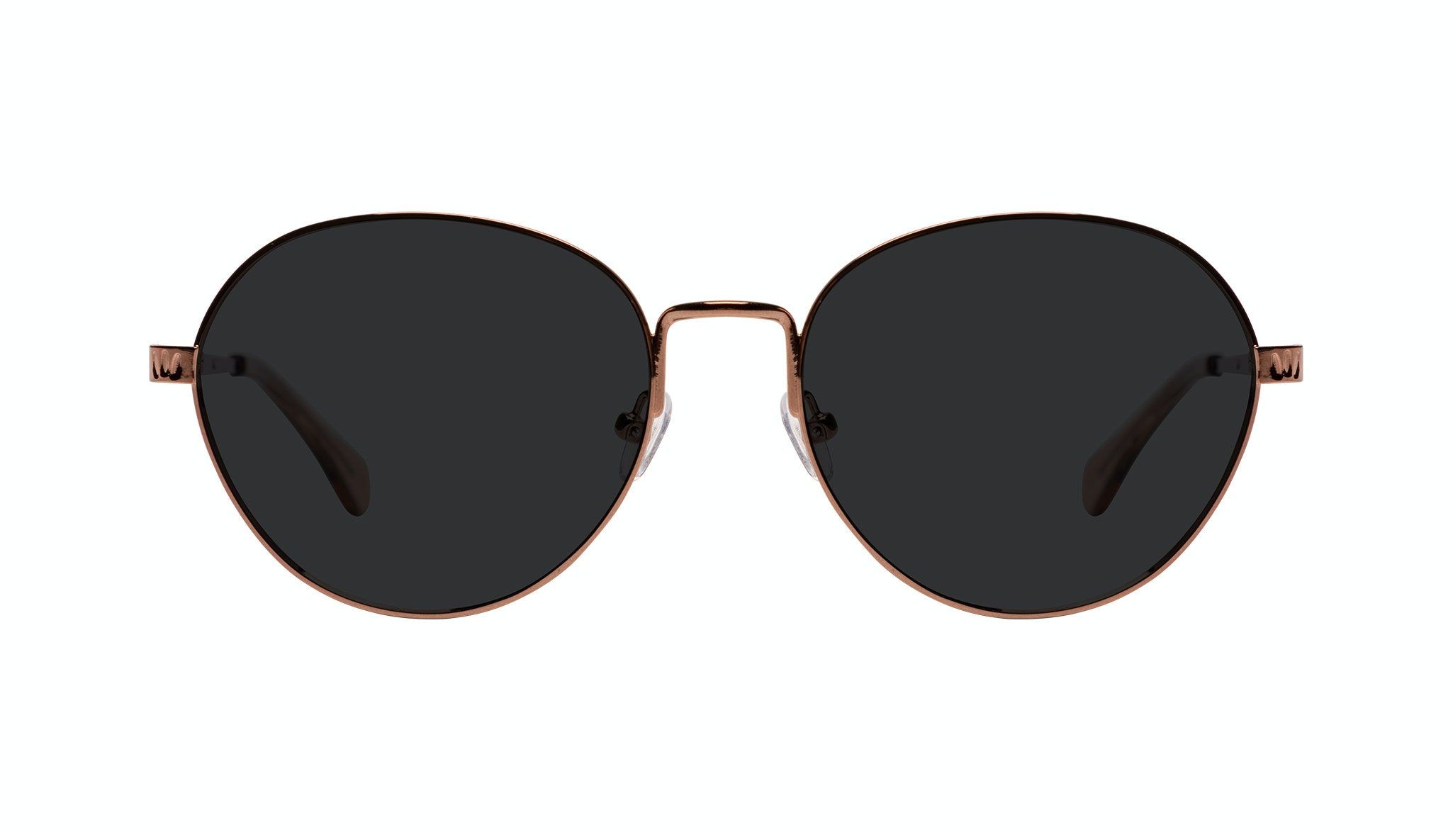 Affordable Fashion Glasses Round Sunglasses Women Brace Plus Rose Gold Front