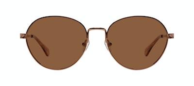 Affordable Fashion Glasses Round Sunglasses Women Brace Plus Rose Gold Front