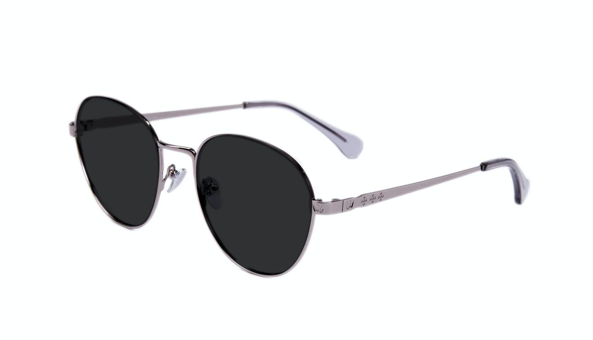 Affordable Fashion Glasses Round Sunglasses Women Brace Silver Tilt