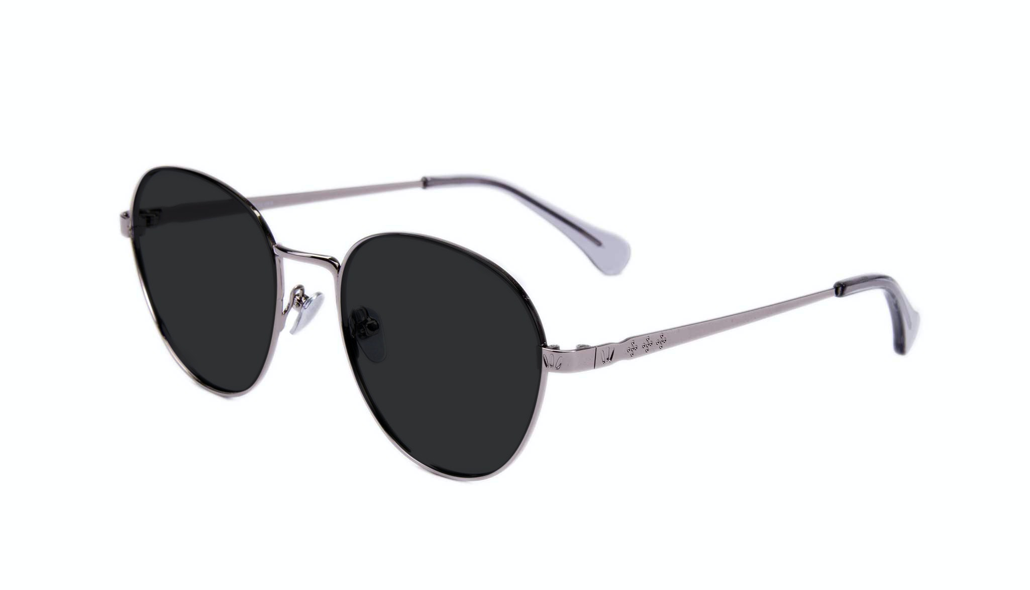 Affordable Fashion Glasses Round Sunglasses Women Brace Silver Tilt