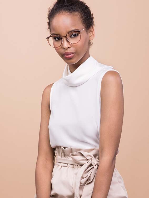 Affordable Fashion Glasses Square Round Eyeglasses Women Amaze Rose