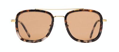 Affordable Fashion Glasses Aviator Rectangle Sunglasses Men Class Mahogany Stone Front