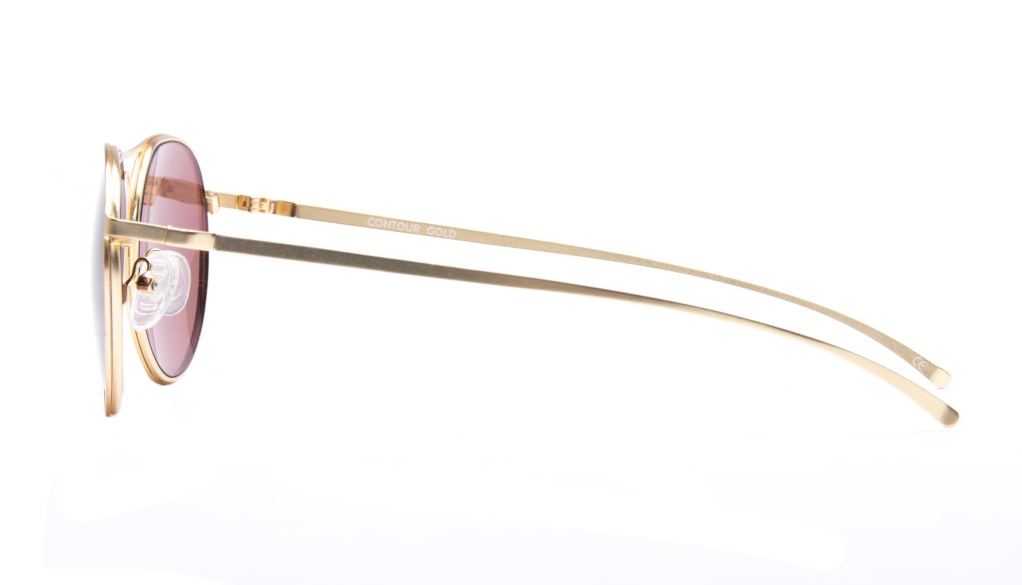Affordable Fashion Glasses Aviator Round Sunglasses Men Contour Gold Side