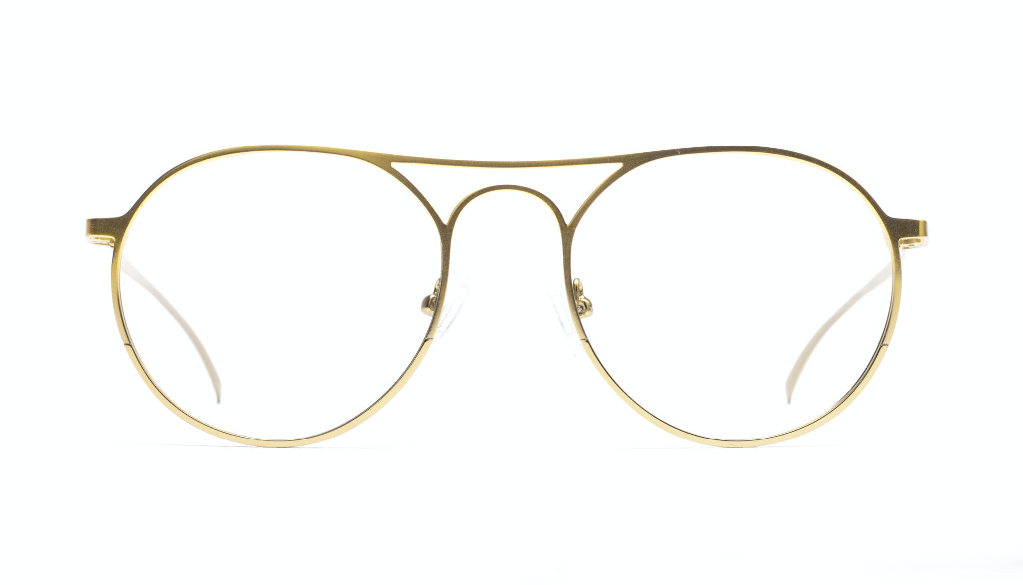 Affordable Fashion Glasses Aviator Round Eyeglasses Men Contour Gold Front