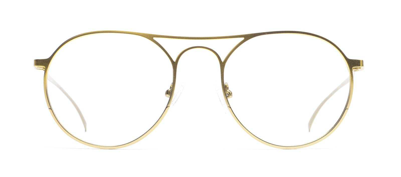 Men\'s Eyeglasses - Contour in Gold | BonLook