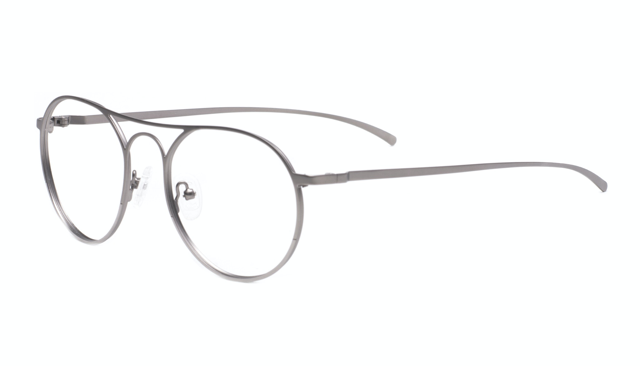 Affordable Fashion Glasses Aviator Round Eyeglasses Men Contour Silver Tilt