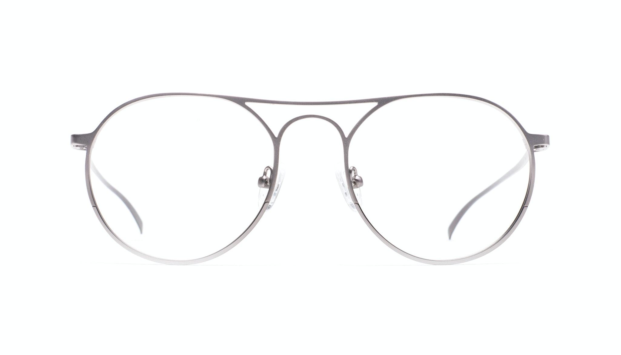 Affordable Fashion Glasses Aviator Round Eyeglasses Men Contour Silver Front