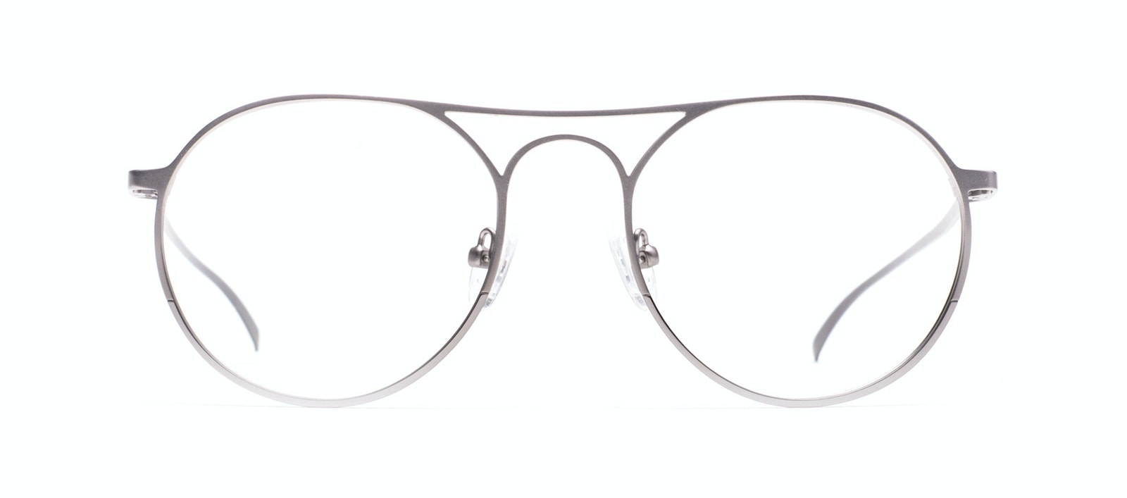 1e57d73852a0 Affordable Fashion Glasses Aviator Round Eyeglasses Men Contour Silver Front
