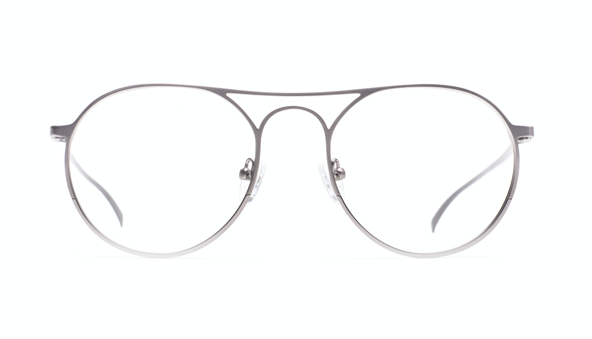 Affordable Fashion Glasses Aviator Round Eyeglasses Men Contour Silver Front