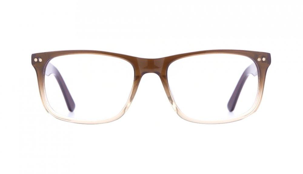 Affordable Fashion Glasses Rectangle Eyeglasses Men Women Dylan Cinnamon Brown Front