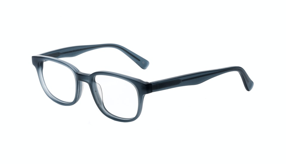 Mens Eyeglass Frames Square : Mens Eyeglasses - Magnetic in Midnight Blue BonLook