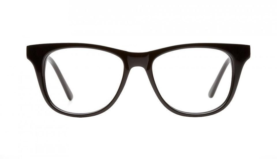 Affordable Fashion Glasses Square Eyeglasses Men Women Night Owl Black Front
