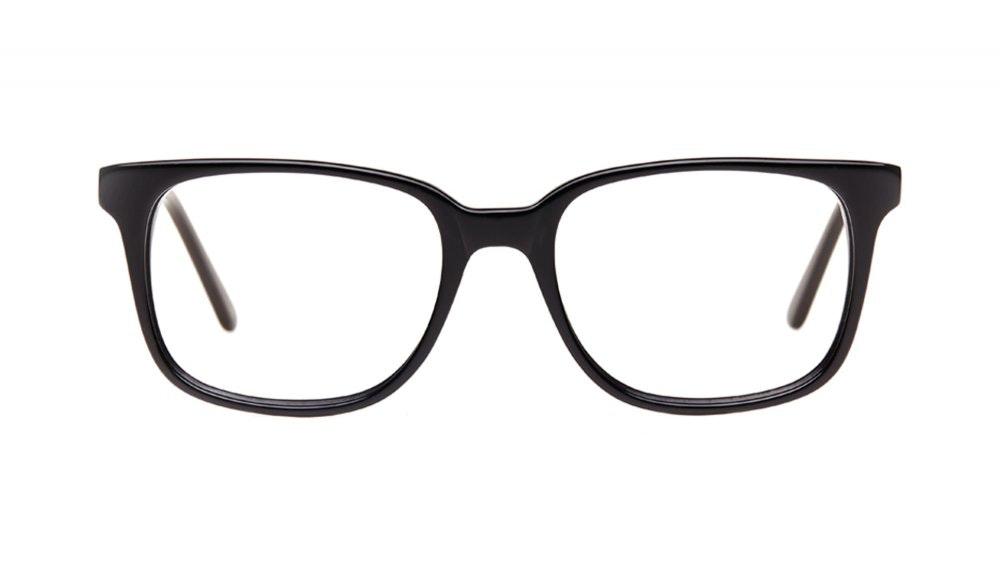 Affordable Fashion Glasses Rectangle Square Eyeglasses Women Windsor Black Front