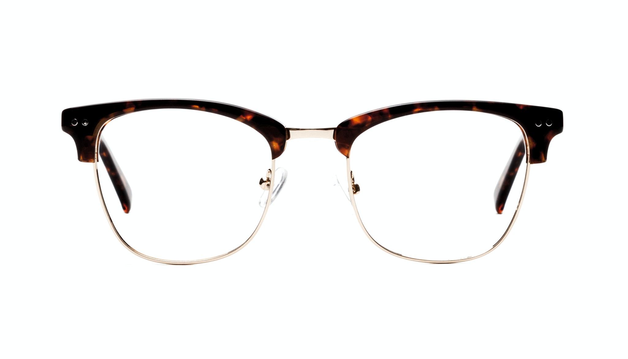 Affordable Fashion Glasses Square Eyeglasses Men Lift Gold Sepia Front