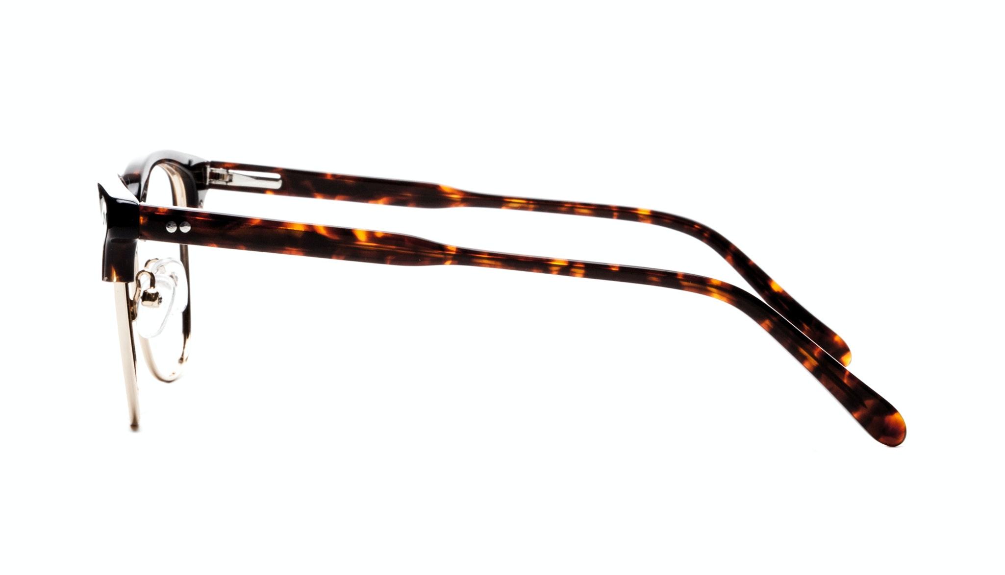 Affordable Fashion Glasses Square Eyeglasses Men Lift Gold Sepia Side