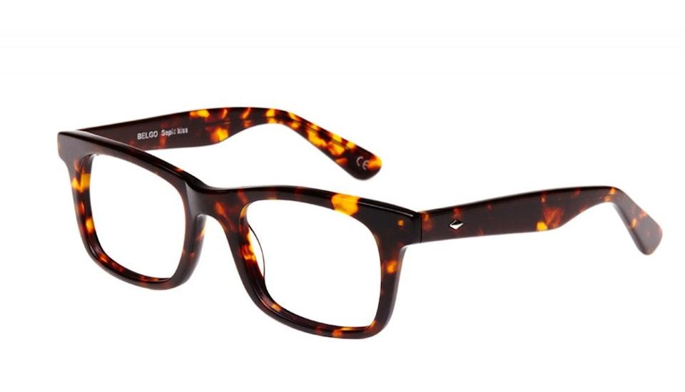 Affordable Fashion Glasses Square Eyeglasses Men Women Belgo Sepia Kiss Tilt