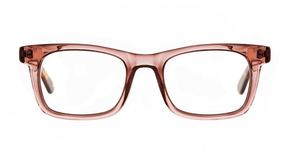 Affordable Fashion Glasses Square Eyeglasses Men Women Belgo Rose Sepia Front