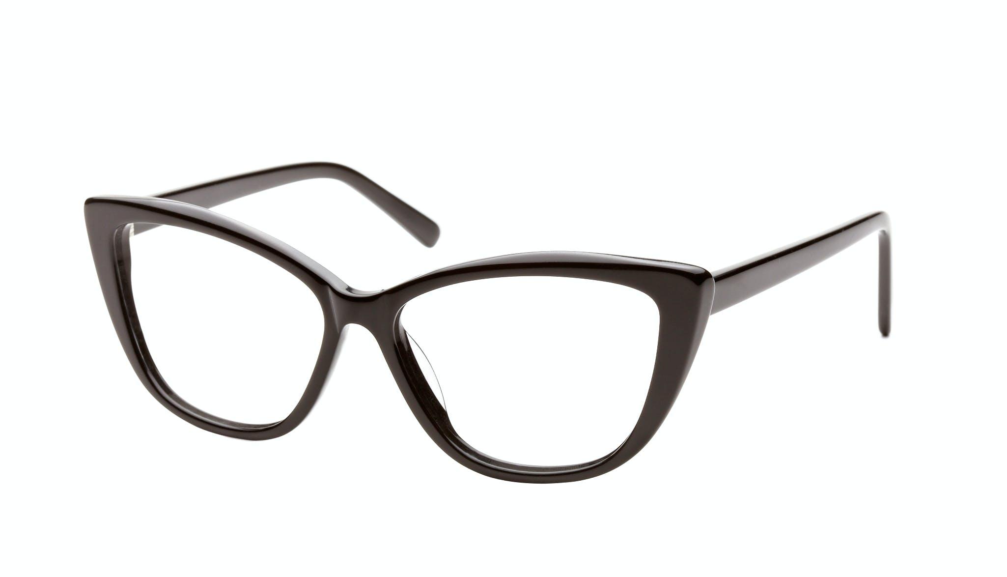 Affordable Fashion Glasses Cat Eye Daring Cateye Eyeglasses Women Dolled Up Black Tilt