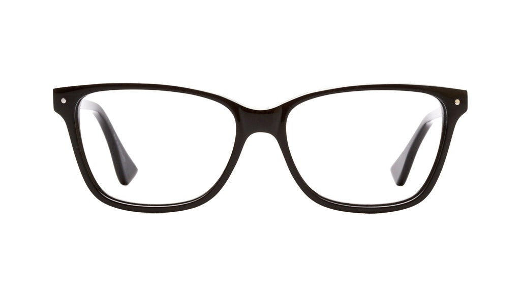 Affordable Fashion Glasses Rectangle Eyeglasses Women Honeybadger Black