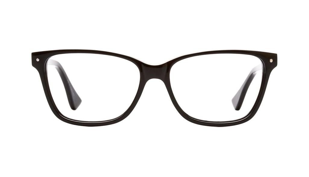 Affordable Fashion Glasses Rectangle Eyeglasses Women Honeybadger Black Front