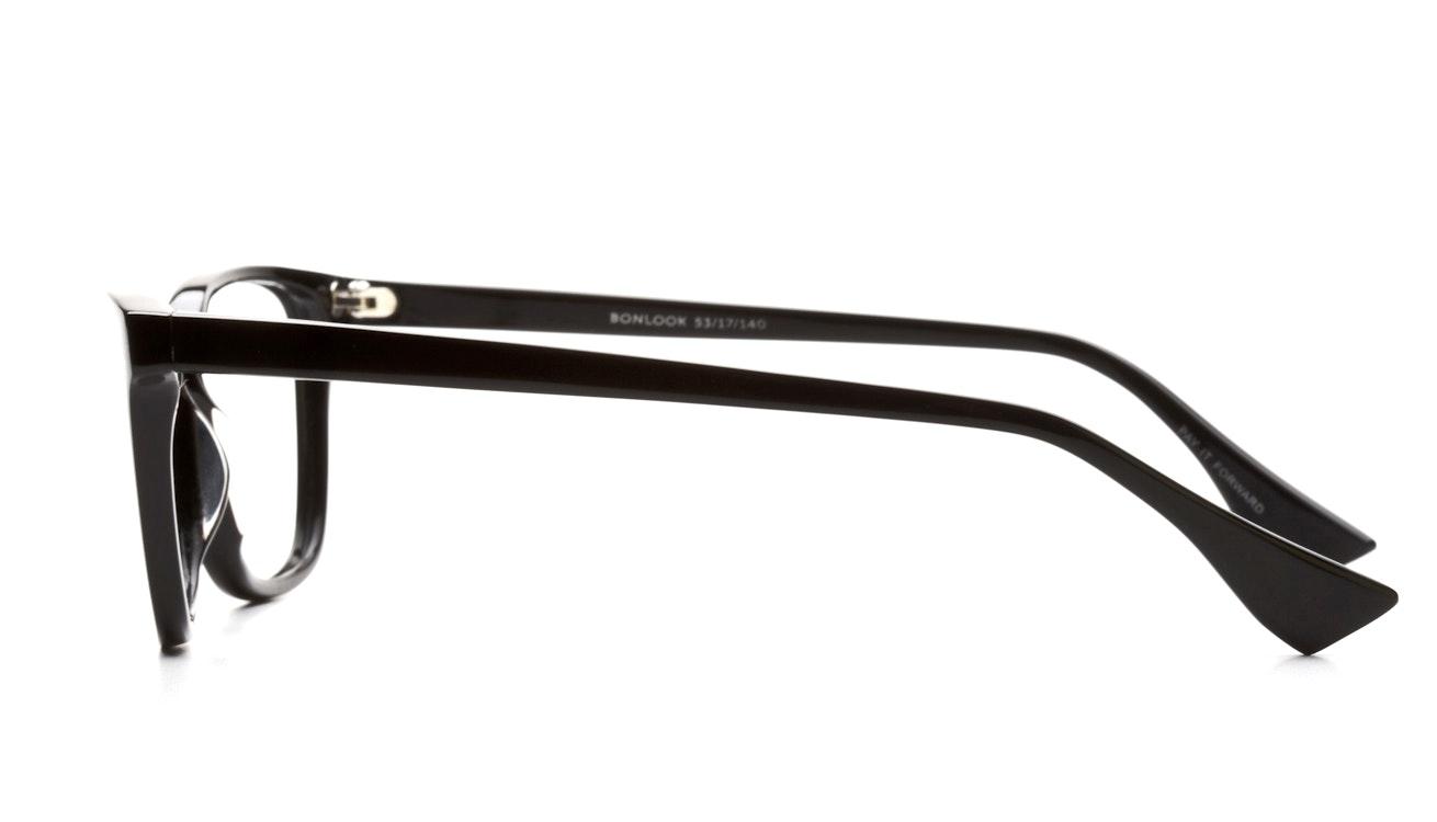 Affordable Fashion Glasses Rectangle Eyeglasses Women Honeybadger Black Side