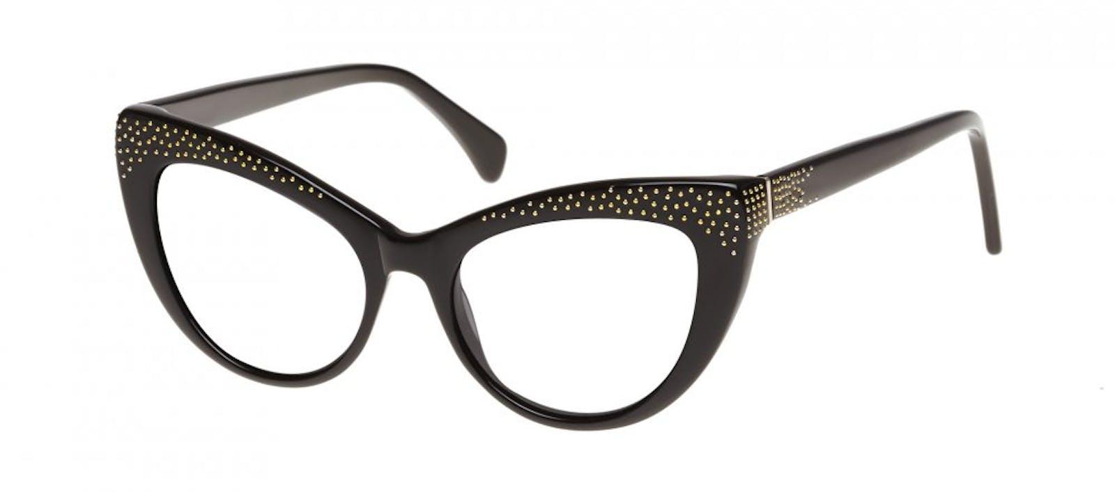 Lunettes tendance Oeil de chat Daring Cateye Lunettes de vue Femmes Keiko  Roxy Noir Incliné da00c49a98cd