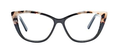 Affordable Fashion Glasses Cat Eye Daring Cateye Eyeglasses Women Dolled Up Ebony Granite Front