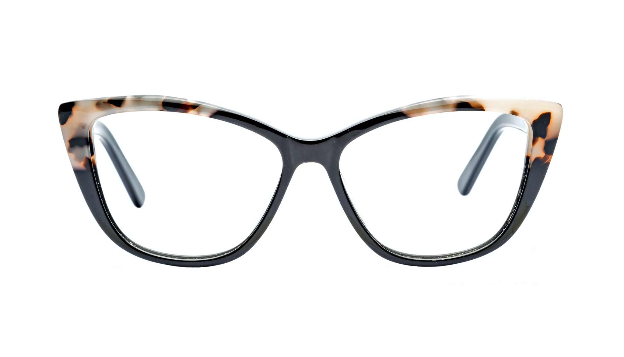 Affordable Fashion Glasses Cat Eye Eyeglasses Women Dolled Up Ebony Granite Front