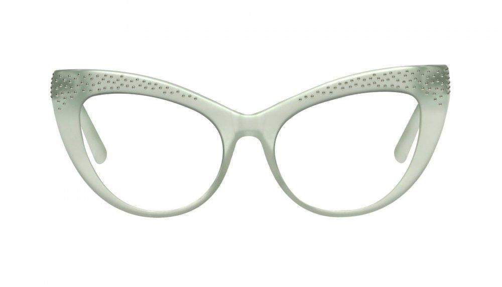 Affordable Fashion Glasses Cat Eye Eyeglasses Women Keiko Miku Mint Front