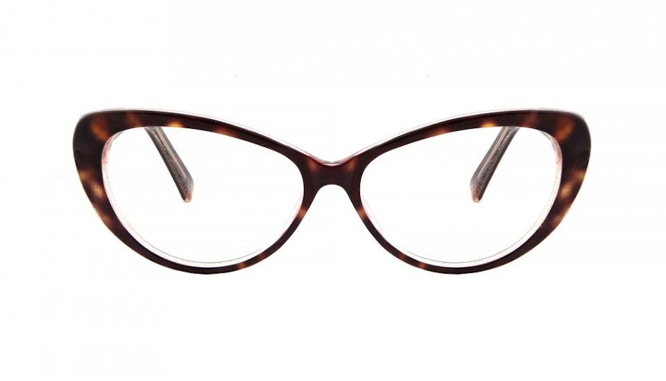 Affordable Fashion Glasses Cat Eye Eyeglasses Women Glamazon Hazel Stardust Front