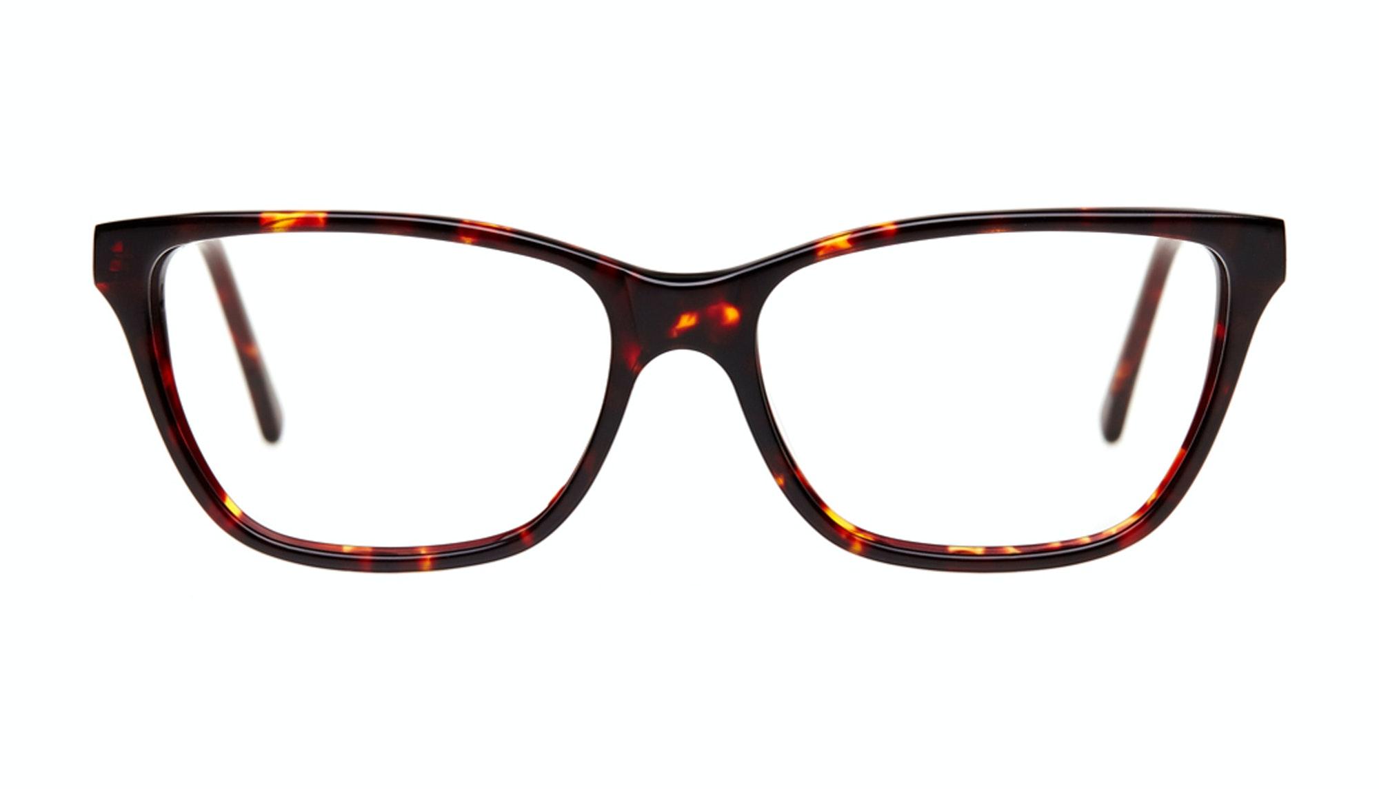 Affordable Fashion Glasses Rectangle Eyeglasses Women Honeybadger Sepia Kiss Front