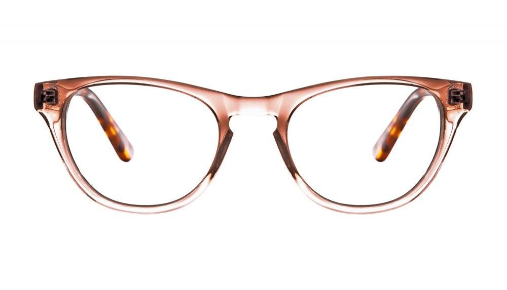 Affordable Fashion Glasses Cat Eye Eyeglasses Women Selfie Rose Sepia Front