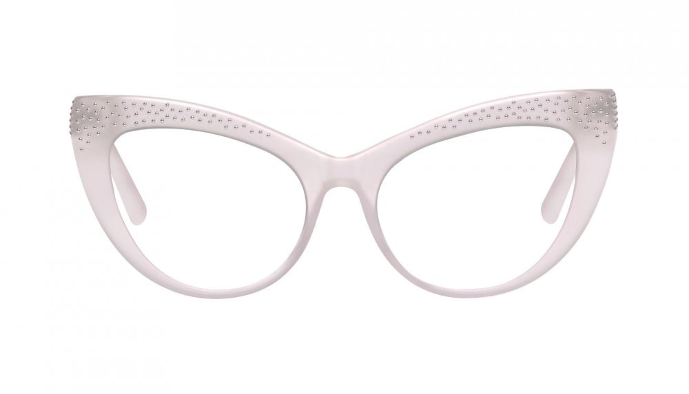 Affordable Fashion Glasses Cat Eye Daring Cateye Eyeglasses Women Keiko Barbie Pink Front
