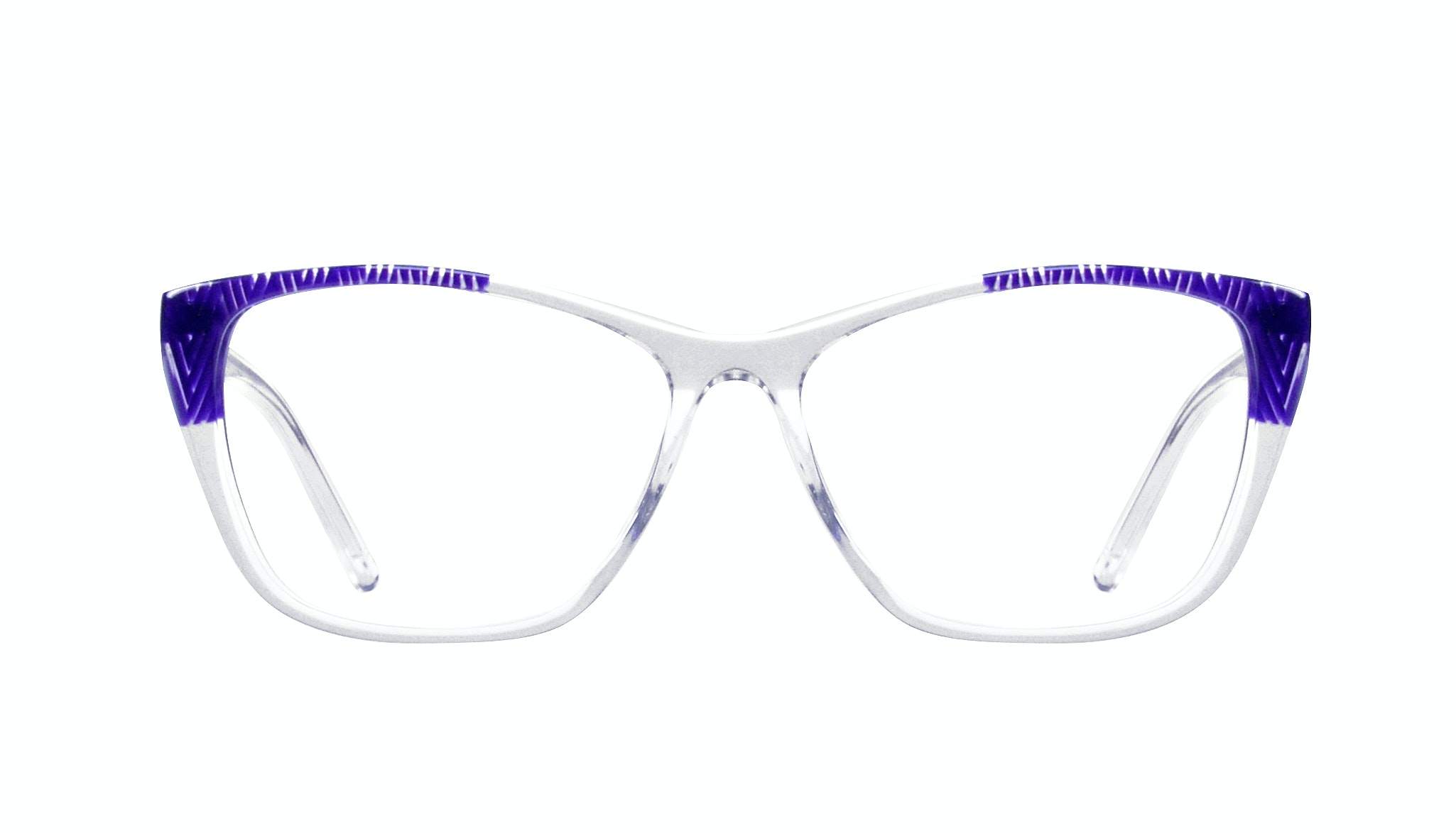 Affordable Fashion Glasses Cat Eye Rectangle Eyeglasses Women Myrtle Diamond Violet