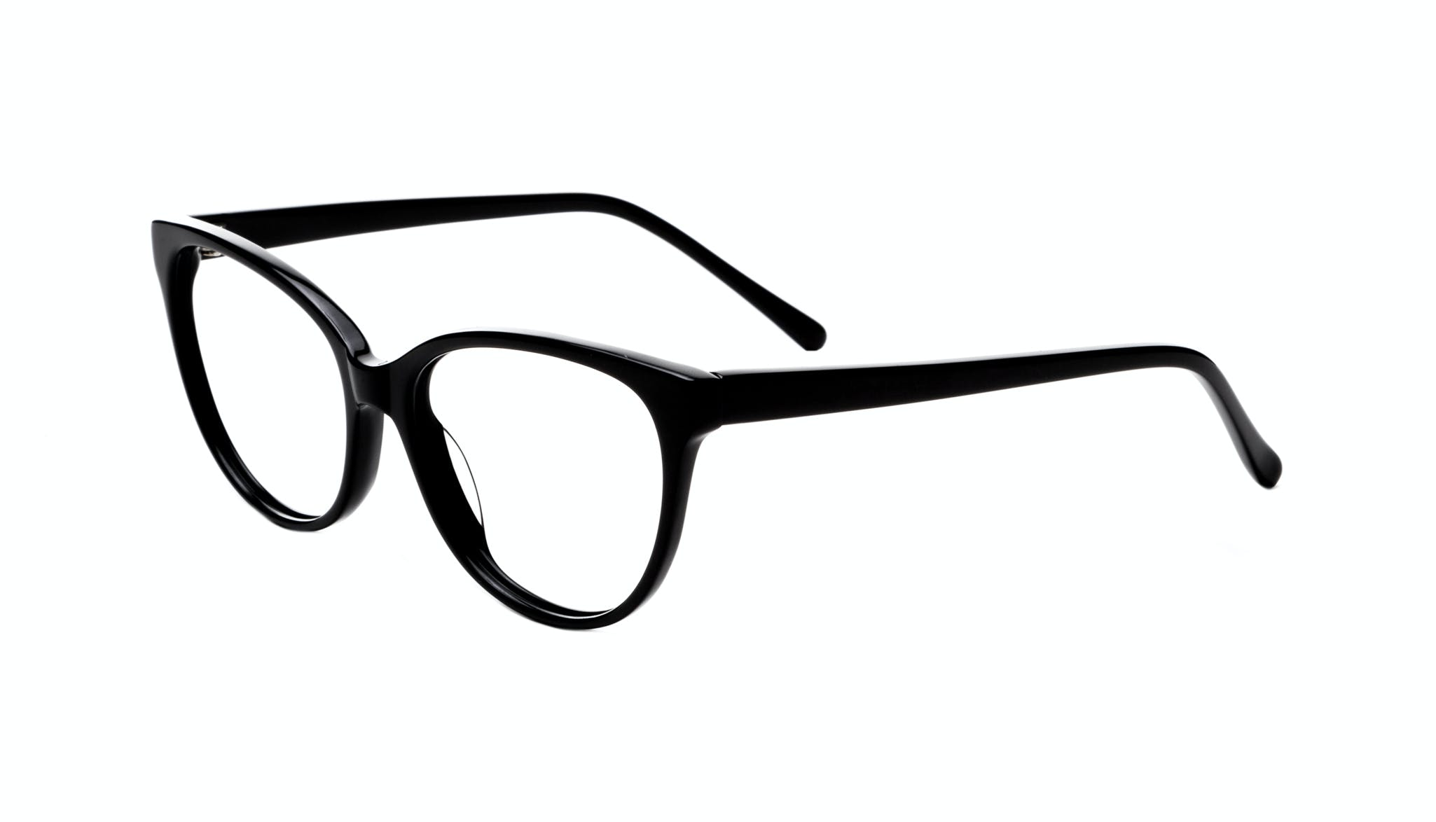 Affordable Fashion Glasses Round Eyeglasses Women Imagine Onyx Tilt