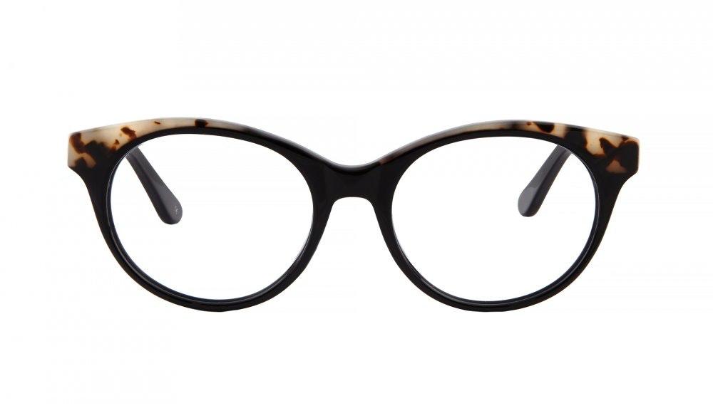 Lunettes tendance Oeil de chat Ronde Lunettes de vue Femmes Beatrix Ebony Granite Face