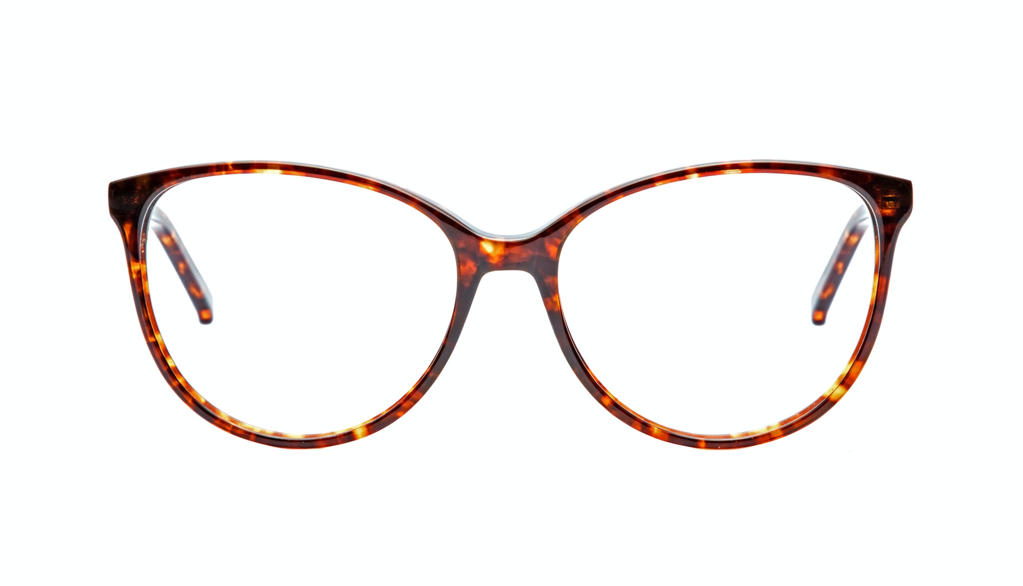 Affordable Fashion Glasses Cat Eye Round Eyeglasses Women Imagine Sepia Kiss Front