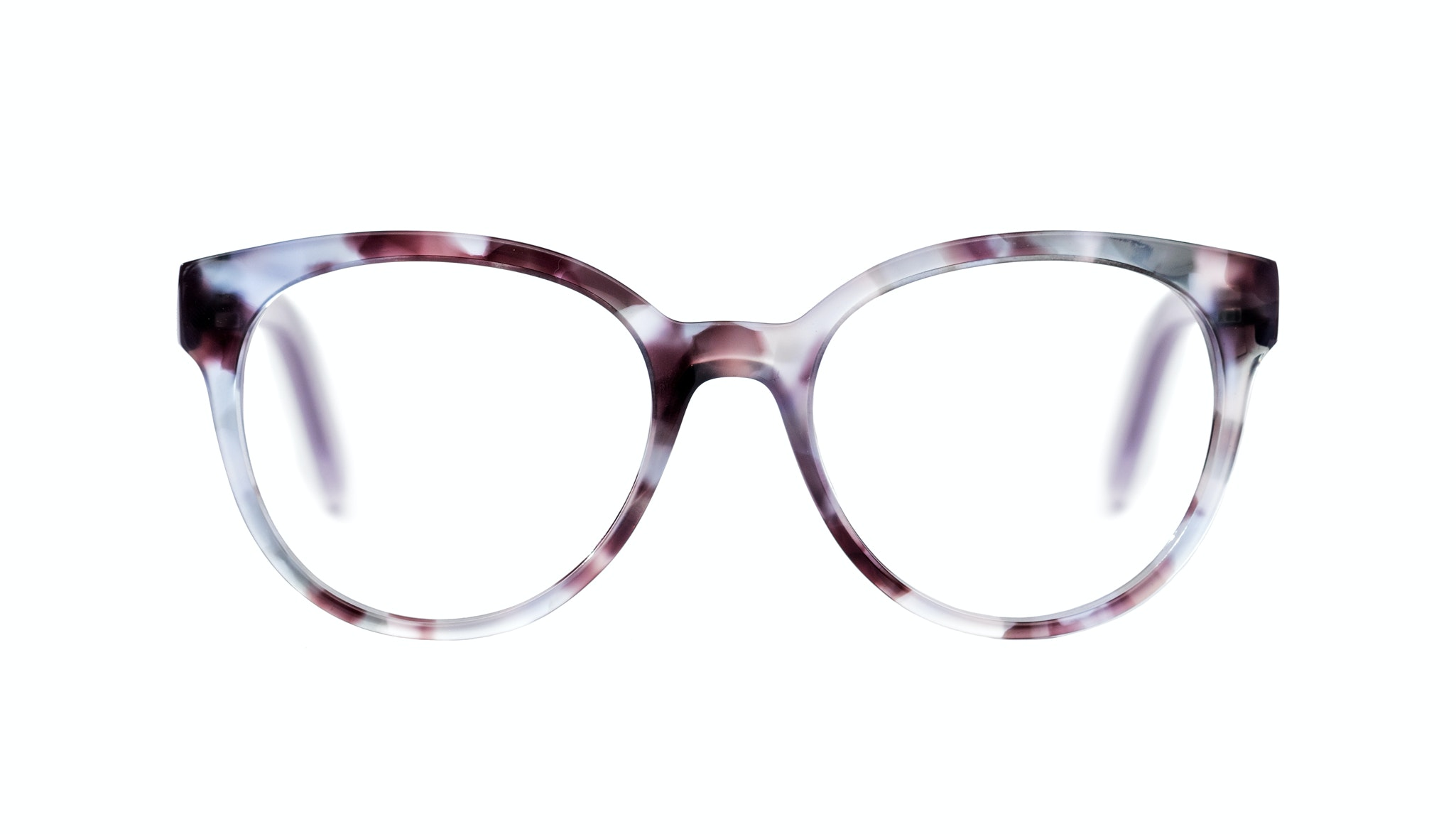 Affordable Fashion Glasses Cat Eye Round Eyeglasses Women Eclipse Lilac Tort Front