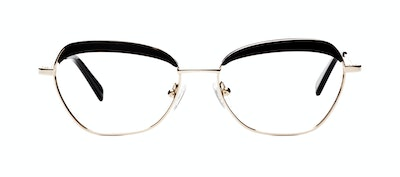 Affordable Fashion Glasses Cat Eye Square Eyeglasses Women Darling Gold Onyx Front