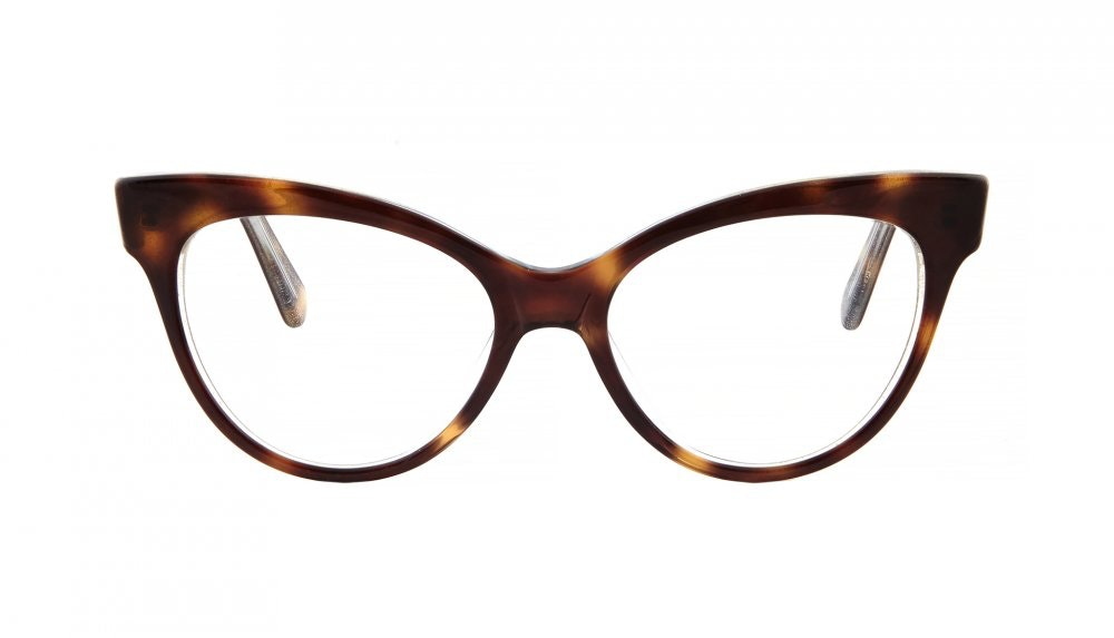 Affordable Fashion Glasses Cat Eye Square Eyeglasses Women SkunkBoy Twinkle Tort Front