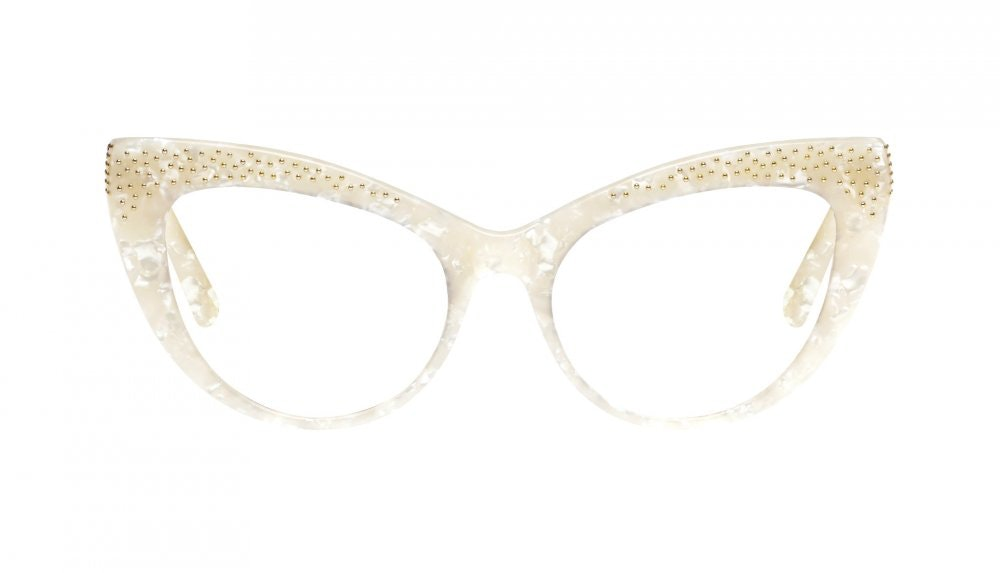 Affordable Fashion Glasses Cat Eye Eyeglasses Women Keiko Lily White Front
