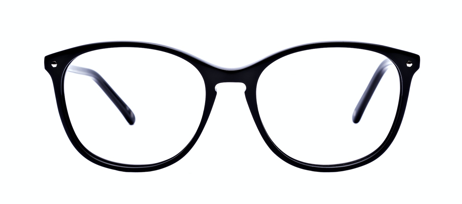 Affordable Fashion Glasses Round Eyeglasses Women Versa Pitch Black Front
