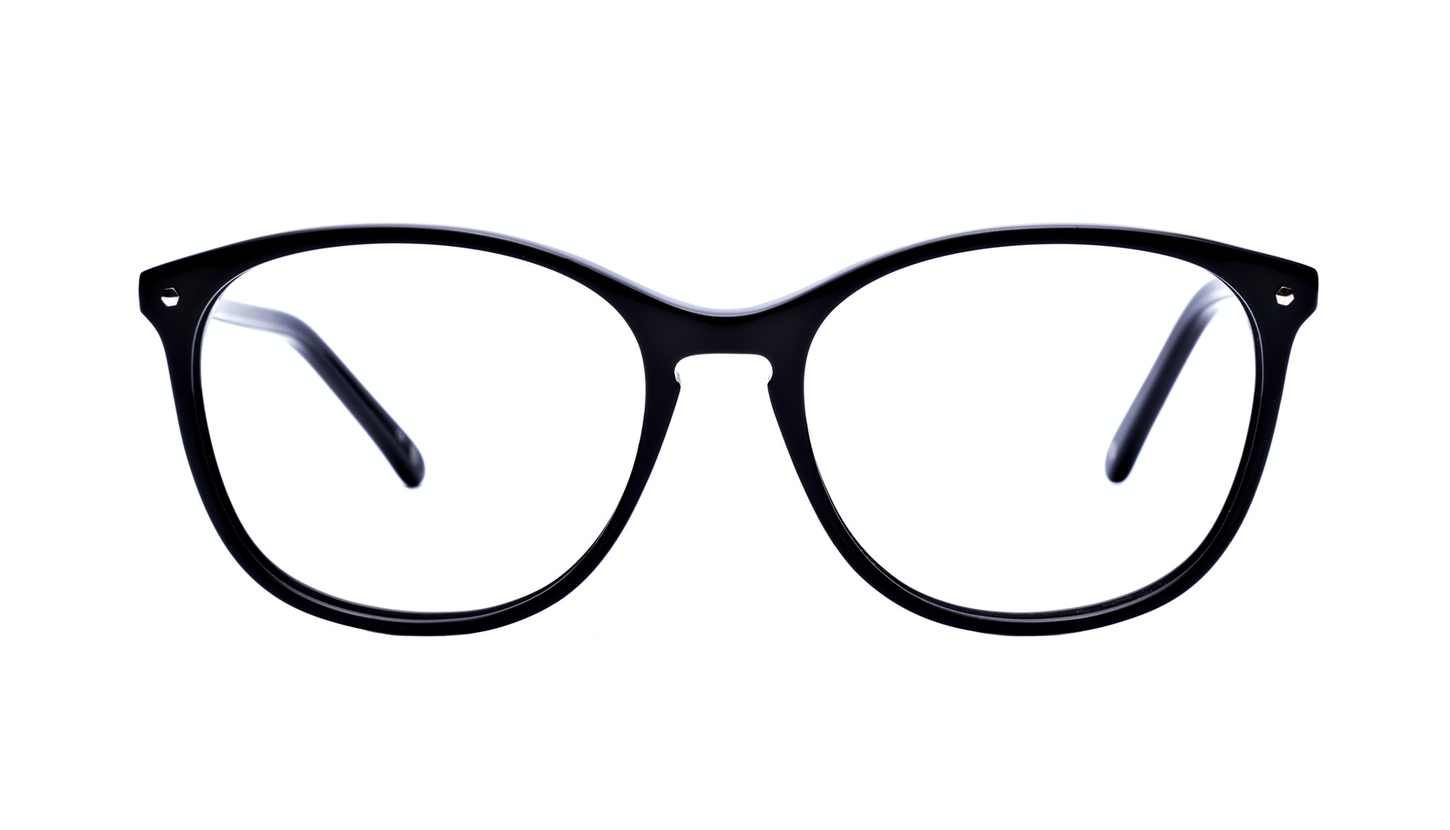 Affordable Fashion Glasses Rectangle Round Eyeglasses Women Nadine Pitch Black Front