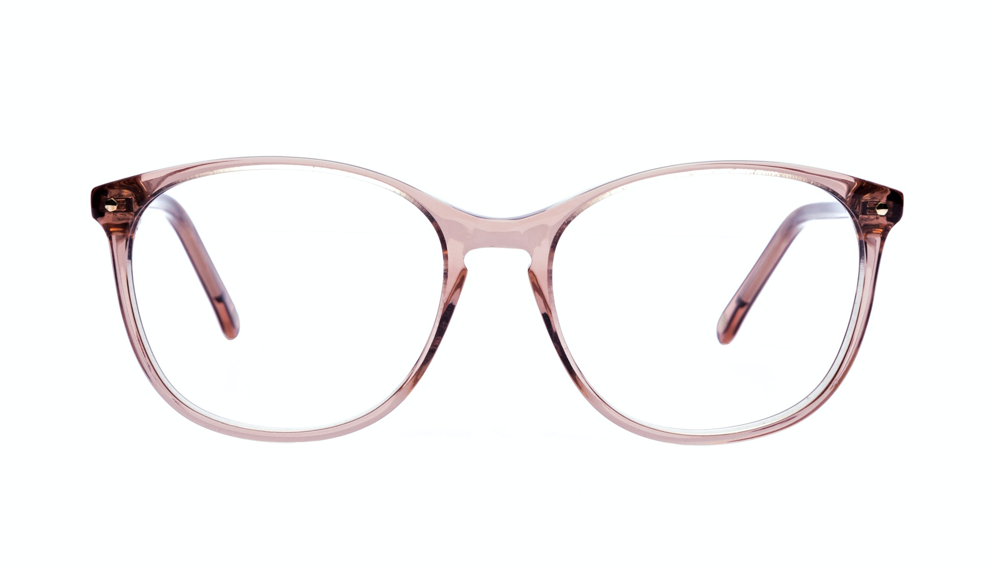 Affordable Fashion Glasses Rectangle Round Eyeglasses Women Nadine Rose Front