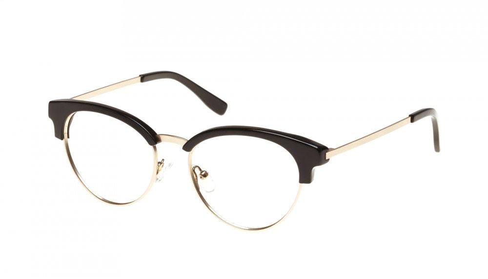 Affordable Fashion Glasses Round Eyeglasses Women Allure Black Tilt