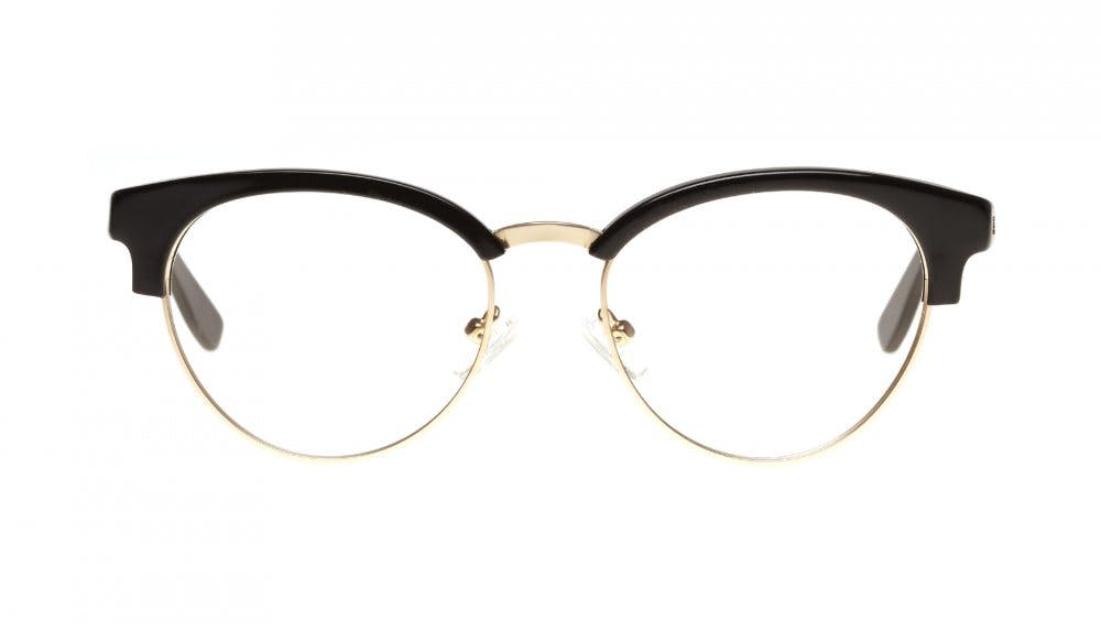 Affordable Fashion Glasses Round Eyeglasses Women Allure Black Front