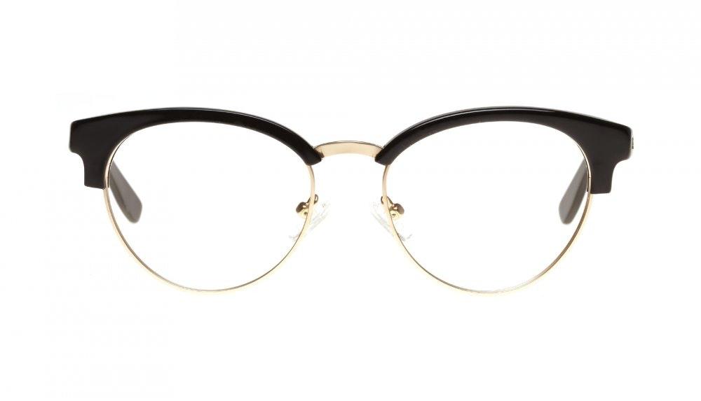 Affordable Fashion Glasses Round Eyeglasses Women Allure Black Front