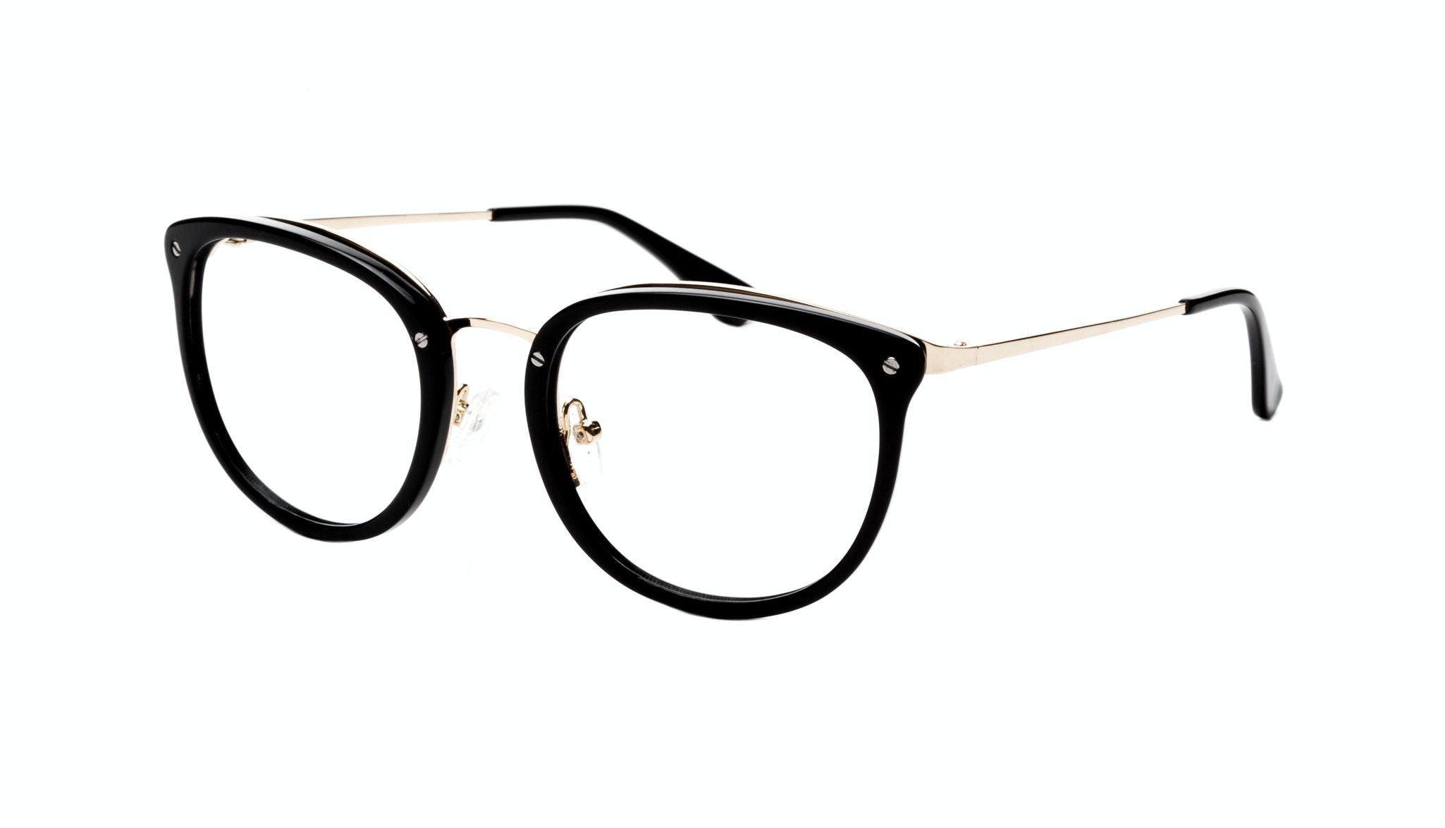 Affordable Fashion Glasses Square Round Eyeglasses Women Amaze Onyx Tilt
